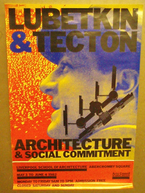 076595 Poster  LUBETKIN AND TECTON - £20